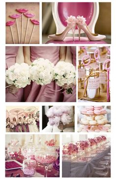 Olde Fashioned pink wedding