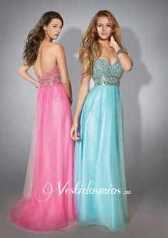 Strapless Vestidos de Noche