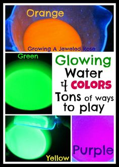 Glowing Water Craft #ArtsAndCrafts #KidsCrafts #Crafts #DIY #GLowInTheDark #Waters #Summer
