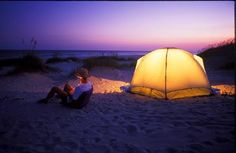 beaches, state parks, tent, at the beach, beach camping, hammock, place, bucket lists, north carolina