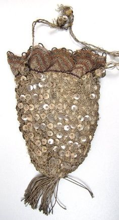 Pre 1800 Silver Sequined Reticule