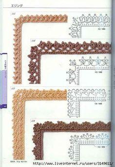 . orilla crochet, beauti edg, crochet frame pattern, picture frames, bordes crochet, pictur frame