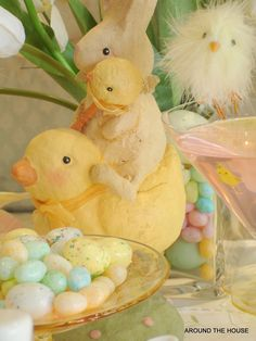 Easter table dressing