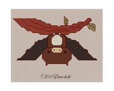 Little Bat Cross Stitch -