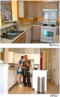Before and after - kitchen Let http://Contractors4you.com Find your contractor fast Use our free service-Also free leads for contractors
