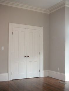 wall colors, living rooms, early mornings, grey wall, closet door, master bedrooms, benjamin moore, neutral paint colors, rever pewter
