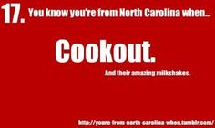 You know you're from North Carolina when....