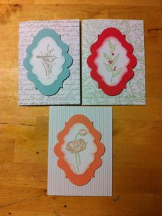 Stampin Up Simply Sketched cards