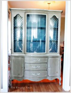 Furniture painted in Aubusson Blue and Coco with Chalk Paint® decorative paint by Annie Sloan. Done by Janet at The Empty Nest.