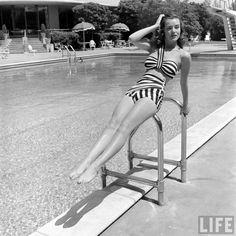 Breakaway dress from 1944 (no designer credited). Swimsuit layer
