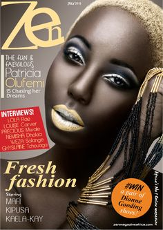 Zen magazine July cover featuring Patricia Olufemi a Nigerian model based in Ireland