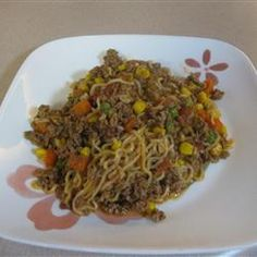 """Ground Beef Curly Noodle 