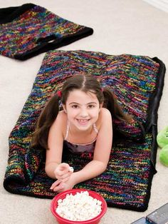 Crocheted Sleeping Bag and Tote / Pattern. Not a free pattern