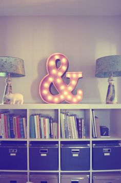 Vintage Marquee Lights - Ampersand | domino.com #forthehome #home #decor #lighting