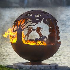 Wildfire 37 Hand Crafted Steel Fire Pit   WoodlandDirect.com: Outdoor Fireplaces,Fire Pit - Wood Burning, Fire Pit - Custom