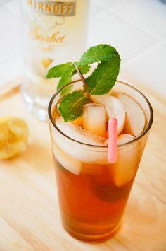 Smirnoff Sorbet Light lemon Tea cocktail #smirnoffsorbet  SO refreshing and perfect for summer!