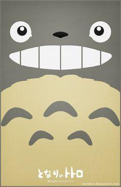 Totoro Poster - Smiling by ~Nortiker on deviantART