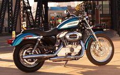 Harley Davidson Sportster 1200 Blue - Wallpapersus.