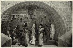 Mary's Well in Nazareth, 1925 www.ffhl.org #Franciscan #HolyLand