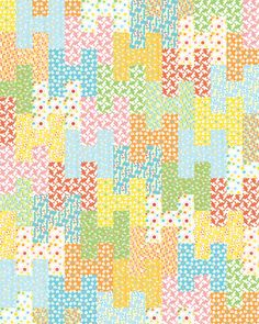 Would make a cute baby quilt.