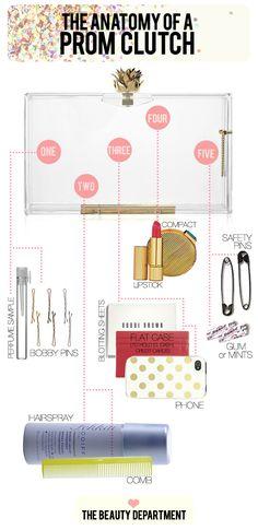 Prom clutch essentials!