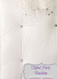 DIY Tufted Party Backdrop by PartiesforPennies.com