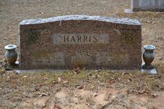 Tombstone Tuesday – JD and Beaty Harris #genealogy #familyhistory