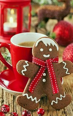 . cup, xmas decor, winter, iphone wallpaper, cocoa, coffee, cooki, gingerbread man, christmas gingerbread
