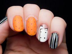 Mario Batali's Orange Crocs Nail Art | Chalkboard Nails | Nail Art Blog