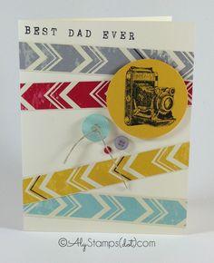 Best Dad Ever. Stampin' Up! Traveller Stamp