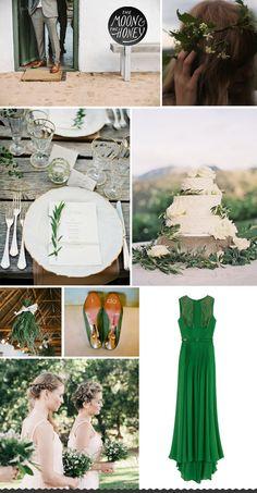 Rustic green wedding inspiration board #stpatricksday #stpatricksdaywedding