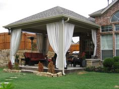 This is what I want to do to our deck! Cover it with a roof!
