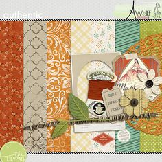 Authentic mini kit freebie from Amy Wolff Designs