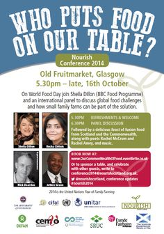 We're delighted to support the great @NourishScotland conference on 16th & I7th Oct. Book here http://is.gd/nourishscotland14