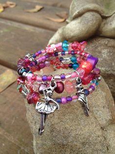 Ballerina Ballet Bracelet: Three Wrap Memory Wire Bracelet for Any Sweet Girl on Etsy, $25.00