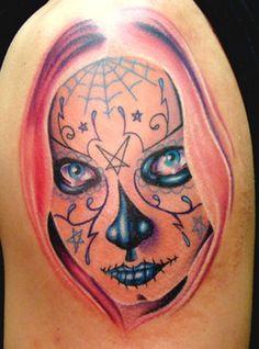 Sugar Skull Girl Tattoo | Sugar Skull / Day of the Dead Girl Portrait : Tattoos :