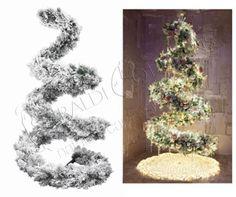 Albero di Natale a spirale innevato cm 210