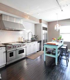 idea, floors, colors, classic white, hous, open kitchens, blues, dream kitchens, white kitchens