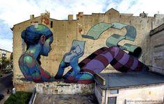 <3 street artists, street art utopia, urban art, the artist, mural, martin luther, barcelona spain, letter wall, streetart