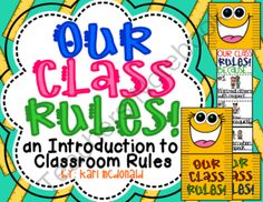 Our Class RULES!: A Foldable Classroom Management Craftivity from Tangled Up In Teaching on TeachersNotebook.com (15 pages)  - Are you looking for a Fun and Creative way to introduce Classroom Rules to your new group of kiddos? Get your students actively and creatively involved in making your Classroom Rules with this adorable Craftivity!!!