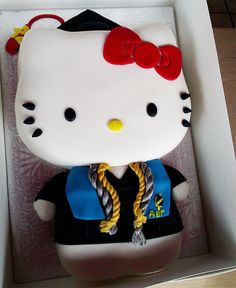 Hello Kitty Graduation Cake With Honors from Animated Cupcakes. Love!
