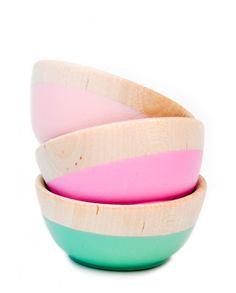 Dipped Mini Bowl Set dip mini, bowl set, color, minis, diy, leif, thing, bowls, mini bowl