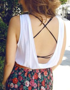 Cute bra under backless shirt