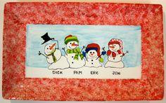Snow family platter