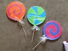 Candyland Birthday Party Decorations- Lollipop Props - Sweet shop theme. $5.85, via Etsy.