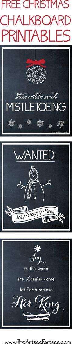 Free Christmas Chalkboard Printables