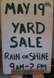 PTO Ideas Blog: How We Organized  Ran a School Yard Sale Fundraiser