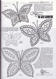 Häkeln Schmetterling crochet butterfly