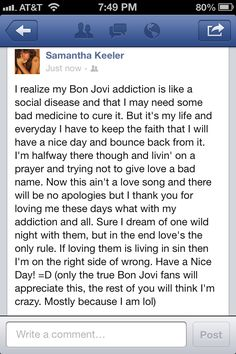 Only Bon Jovi fans will understand- I feel the same way