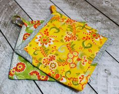 How to make Pot Holders #handmade #pot holders #easy sewing # DIY